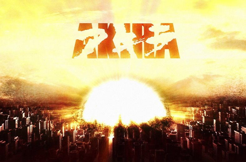 A nuclear bomb exploding in downtown Tokyo, as imagined in Akira